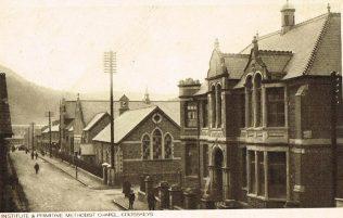 Cross Keys Primitive Methodist Chapel, Risca | postcard belonging to Steven Wild