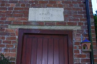 1859 Primitive Methodist Chapel plaque over door, see comments below | photo taken by Ray 3/10/2015