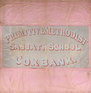 Cox Bank PM Sunday School Banner (front) | Englesea Brook Museum