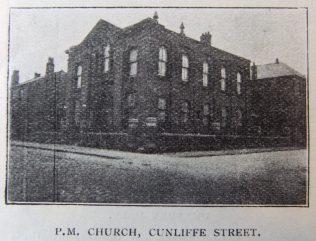 Chorley Cunliffe Street Primitive Methodist chapel | Christian Messenger 1905/40