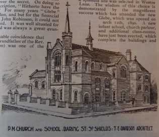 South Shields Baring Street Primitive Methodist chapel | Christian Messenger 1905/176