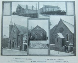 chapels in Chesterfield First Primitive Methodist circuit  | Christian Messenger 1913/73