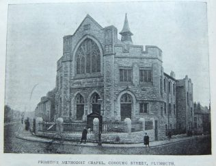 Plymouth Cobourg Street Primitive Methodist chapel | Christian Messenger 1914/89