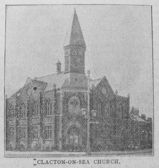 Clacton on Sea Primitive Methodist chapel   Christian Messenger 1918/268