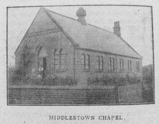 Middlestown Primitive Methodist chapel | Christian Messenger 1918/296