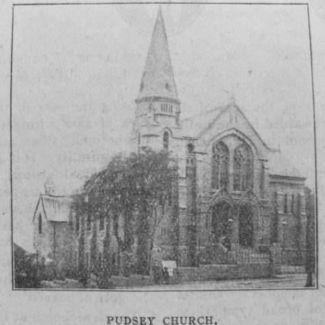 Pudsey PM Chapel as pictured in the Christian Messenger 1916