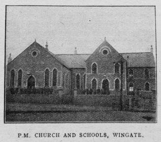 Wingate Primitive Methodist chapel and schools   Christian Messenger 1919/74