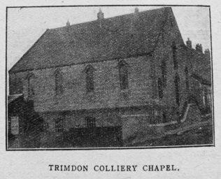 Trimdon Colliery Primitive Methodist chapel   Christian Messenger 1919/74