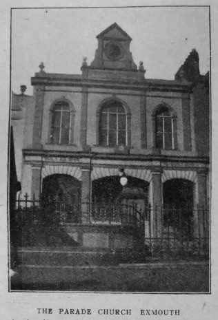 Exmouth The Parade Primitive Methodist chapel | Christian Messenger 1920/74
