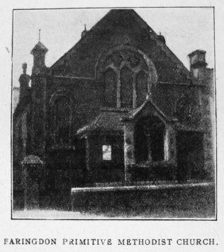Faringdon Primitive Methodist chapel   Christian Messenger 1920/174