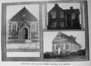 Bradfield and Quicks Green Primitive Methodist chapels and manse | Christian Messenger 1920/298