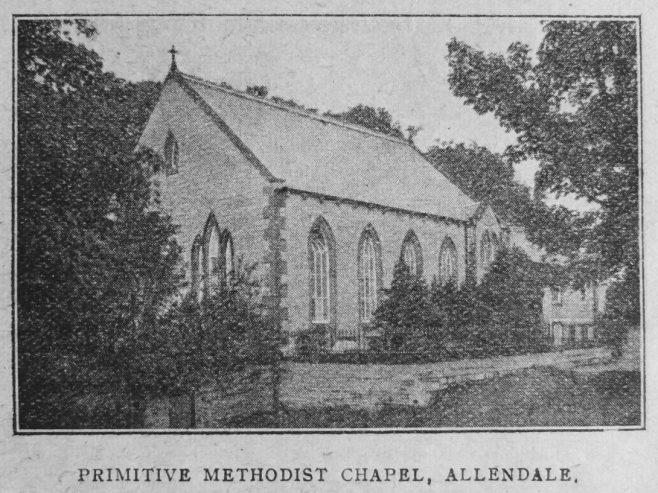 Allendale Primitive Methodist chapel   Christian Messenger 1921/266