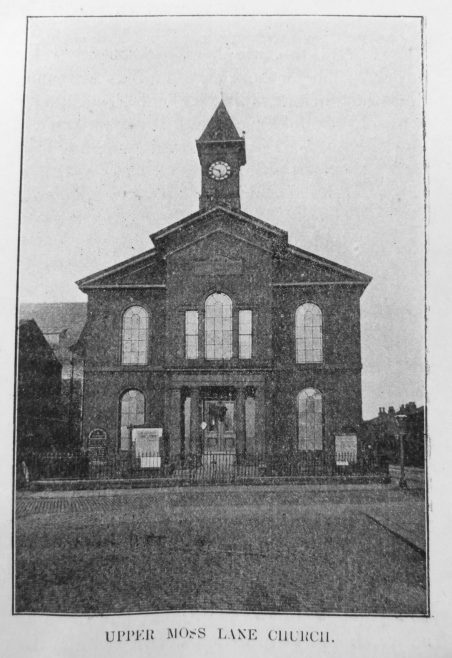 Hulme Upper Moss Lane Primitive Methodist chapel   Primitive Methodist Magazine 1906/548