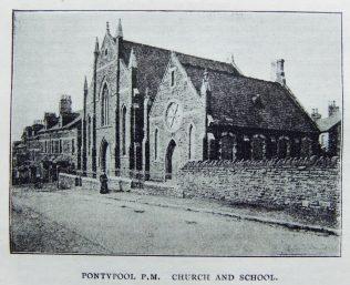 Pontypool Primitive Methodist chapel | Christian Messenger 1904/198