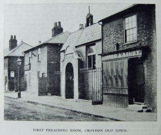 Croydon: first Primitive Methodist preaching place | Christian Messenger 1901/116; 1901/149