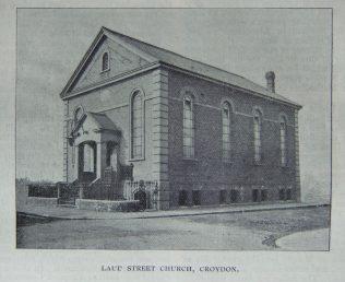 Croydon Laud Street Primitive Methodist chapel | Christian Messenger 1901/116; 1901/149