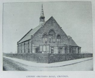 Croydon Cherry Orchard Road Primitive Methodist chapel | Christian Messenger 1901/116; 1901/149