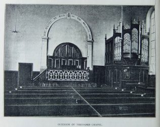Thetford Primitive Methodist chapel interior | Christian Messenger 1901/237