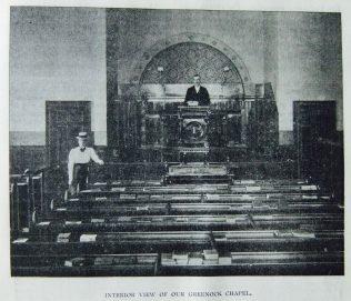 Greenock Primitive Methodist chapel interior | Christian Messenger 1901/341