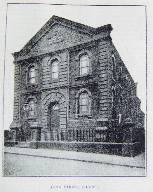 Sheffield John Street Primitive Methodist school chapel   Christian Messenger 1899/273