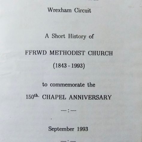 Ffrwd (Frood) Primitive Methodist Chapel