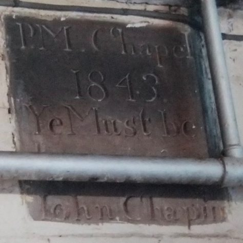 A foundation Stone from the 1843 Chapel