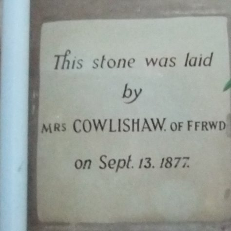 Foundation Stone from the 1877 Chapel