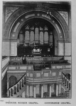 Sheffield Nether  Primitive Methodist chapel interior | Primitive Methodist Magazine 1901/413