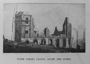 Sheffield Petre Street  Primitive Methodist chapel after the storm | Primitive Methodist Magazine 1901/413
