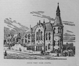 Sheffield South View Road Primitive Methodist chapel | Primitive Methodist Magazine 1901/413
