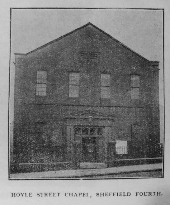 Sheffield Hoyle Street Primitive Methodist chapel | Primitive Methodist Magazine 1901/413