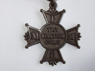 First PM Missionary Society Medal