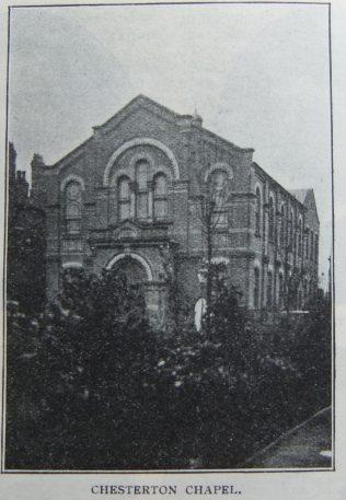 Chesterton Primitive Methodist chapel | Christian Messenger 1908/89