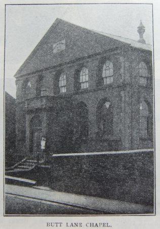 Butt Lane Primitive Methodist chapel | Christian Messenger 1908/89