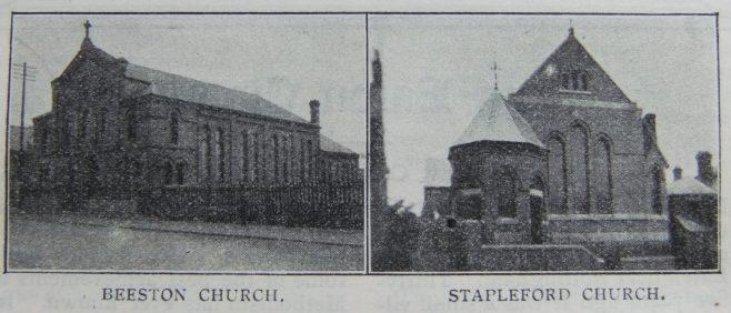 Beeston Primitive Methodist chapel   Christian Messenger 1908/153