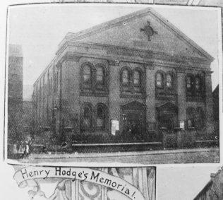 Hull Hodge Memorial Primitive Methodist chapel | Primitive Methodist Magazine 1902/420