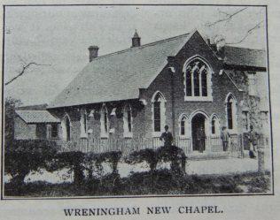 New Wreningham Primitive Methodist chapel   Christian Messenger 1908/249
