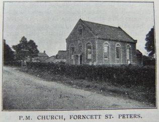 Forncett St Peter Primitive Methodist chapel   Christian Messenger 1908/249