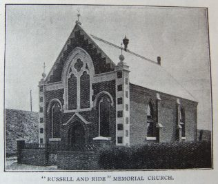 Russell and Ride Memorial chapel, Shefford | Christian Messenger 1907/42