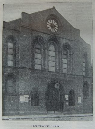 Sunderland Southwick Primitive Methodist chapel, Clockwell Street | Christian Messenger 1907/106
