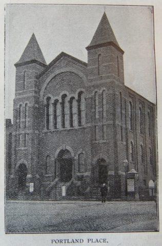Lincoln Portland Place Primitive Methodist chapel 1874   Christian Messenger 1906/107