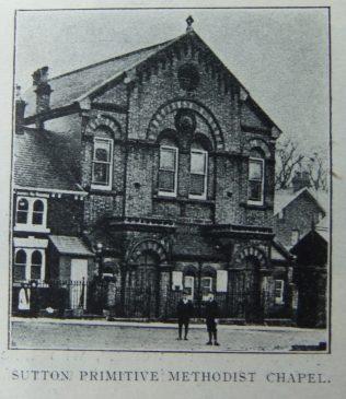 Sutton on Hull Primitive Methodist chapel   Christian Messenger 1910/27