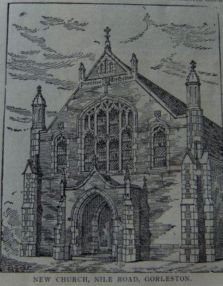 new Gorleston Primitive Methodist chapel,Nile Road   Christian Messenger 1910/281