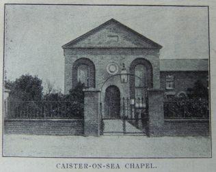 Caister on Sea Primitive Methodist chapel   Christian Messenger 1910/281