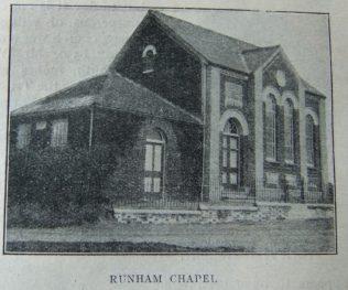 Runham Primitive Methodist chapel   Christian Messenger 1910/281