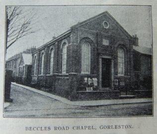 Gorleston Beccles Road Primitive Methodist chapel   Christian Messenger 1910/281