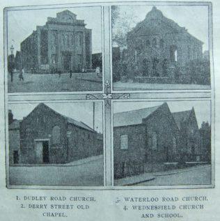 chapels of the Wolverhampton circuit   Christian Messenger 1912/124
