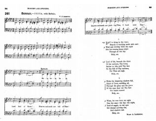Day is dying in the west, set to Sennen   from the Primitive Methodist Hymnal with Supplement 1889