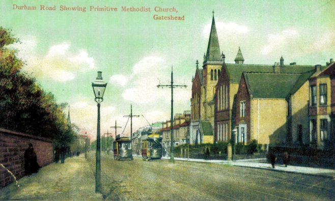 Durham Road, Gateshead with the PM Church on the right (c1910) | Bede Circuit Archive Collections