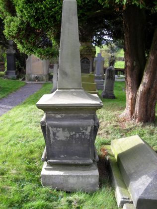 The momument raised by public subscription to James Clifton in Englesea Brook Graveyard   Douglas Savill